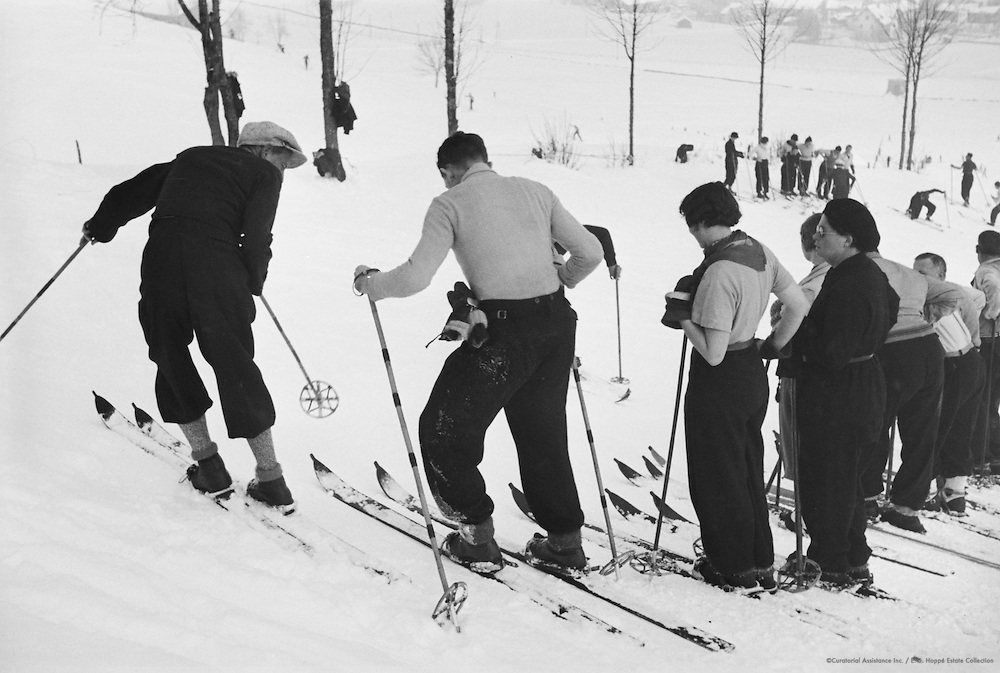 Instructor and Pupils During Skiing Lesson, Kitzbühel, Austria, 1935