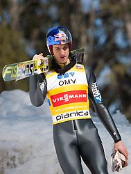 23.03.2013, Planica, Kranjska Gora, SLO, FIS Ski Sprung Weltcup, Skifliegen, Team, 1. Wertungsdurchgang, im Bild Gregor Schlierenzauer (AUT) // Gregor Schlierenzauer of Austria  before his 1st jump of the FIS Skijumping Worldcup Team Flying Hill, Planica, Kranjska Gora, Slovenia on 2013/03/23. EXPA Pictures © 2012, PhotoCredit: EXPA/ Juergen Feichter