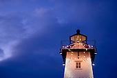 Lighthouses, Wisconsin  Lake Michigan Stock Photography