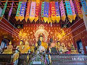 06 APRIL 2015 - CHIANG MAI, CHIANG MAI, THAILAND: Interior of Wat Duang Dee in Chiang Mai.     PHOTO BY JACK KURTZ