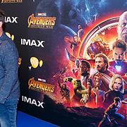 NLD/Amsterdam/20180425 - Première The Avengers: Infinity War, Martijn Krabbe en kinderen Bickel, en Jasmijn