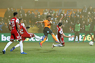 GOAL 2-1 Barnet forward Shaquile Coulthirst (10) scores during The FA Cup fourth round match between Barnet and Brentford at The Hive Stadium, London, England on 28 January 2019.