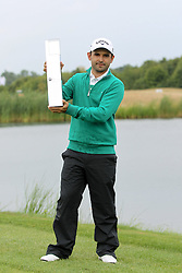 29.06.2014, Golf Club Gut Laerchenhof, Pulheim, GER, BMW International Golf Open, im Bild Winner der BMW international Open 2014 Fabrizio Zanotti (PAR) mit Pokal // during the International BMW Golf Open at the Golf Club Gut Laerchenhof in Pulheim, Germany on 2014/06/29. EXPA Pictures © 2014, PhotoCredit: EXPA/ Eibner-Pressefoto/ Kolbert<br /> <br /> *****ATTENTION - OUT of GER*****