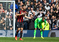 Football - 2018 / 2019 Premier League - Tottenham Hotspur vs. Huddersfield Town<br /> <br /> Christopher Schindler (Huddersfield Town) blasts his team after they concede a second goal at The Tottenham Hotspur Stadium.<br /> <br /> COLORSPORT/DANIEL BEARHAM