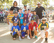 The nine-year-old All Star team is poses for a portrait during Little League closing ceremonies at the Milpitas Sports Center on June 13, 2013. (Stan Olszewski/SOSKIphoto)