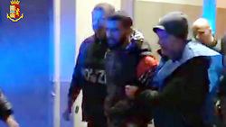 Italy, Milan - January 26, 2018.Anti terrorism operation LUPI DEL DESERTO.Police anti-terrorism and crime sections of Milan have arrested the Egyptian Shalabi Issam Elsayed Abouemayem 22-year-old for alleged links to ISIS terrorist groups..THE 22-year-old allegedly said 'I'm ready for war' in recording. (Credit Image: © Fotogramma/Ropi via ZUMA Press)