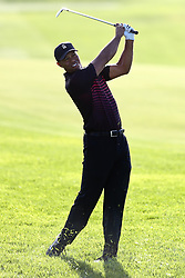 January 25, 2018 - San Diego, California, United States - Tiger Woods hits a fairway shot on the 17th hole during the first round of the 2018 Farmers Insurance Open at Torrey Pines GC. (Credit Image: © Debby Wong via ZUMA Wire)