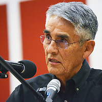 Navajo Nation presidential candidate Joe Shirley Jr. photographed at a presidential forum at Navajo Technical University earlier this year.