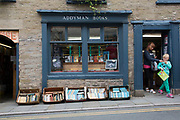 "Exterior of Addyman Books booksellers in Hay-on-Wye or Y Gelli Gandryll in Welsh, known as ""the town of books"", is a small town in Powys, Wales famous for it's many second hand and specialist bookshops, although the number has declined sharply in recent years, many becoming general antique shops and similar."