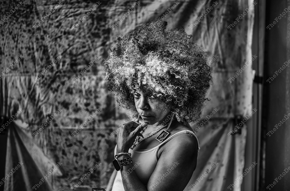 NEWARK, NEW JERSEY:  Alice poses for a portrait and interview during the weekly Block Party on Edison Plaice in Newark, NJ on Friday, July 16, 2021  .(Brian B Price/TheFotodesk).