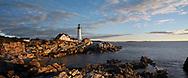 Portland Head Light At Sunrise, Portland, Maine