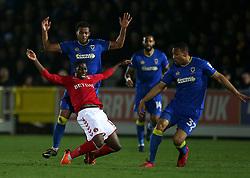 Charlton Athletic's Sullay Kaikai is ackled