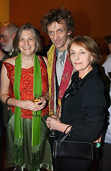 Left to right, MR MATHEW & LADY ANNE CARR and MISS MELISSA WYNDHAM at a party to celebrate the publication of Andrew Robert's new book 'Waterloo: Napoleon's Last Gamble' and the launch of the paperback version of Leonie Fried's book 'Catherine de Medici' held at the English-Speaking Union, Dartmouth House, 37 Charles Street, London W1 on 8th February 2005.<br />