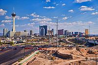 The Stratosphere & Las Vegas Strip Skyline (Day)