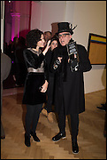 MOLLIE DENT BROCKLEHURST AND STEWART MECHEM at the Private view for A Strong Sweet Smell of Incense<br /> A Portrait of Robert Fraser, Curated by Brian Clarke. Pace Gallery. 6 Burlington Gardens. London. 5 February 2015.