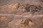 Hikers crossing the crater on the Kilauea Iki Trail, Kilauea Caldera, Hawaii Volcanoes National Park, Hawaii