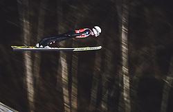 11.01.2019, Stadio del Salto, Predazzo, ITA, FIS Weltcup Skisprung, Val di Fiemme, Herren, Training, im Bild Daniel Huber (AUT) // Daniel Huber of Austria during the training jump of men's FIS Skijumping World Cup at the Stadio del Salto in Predazzo, Itali on 2019/01/11. EXPA Pictures © 2019, PhotoCredit: EXPA/ JFK