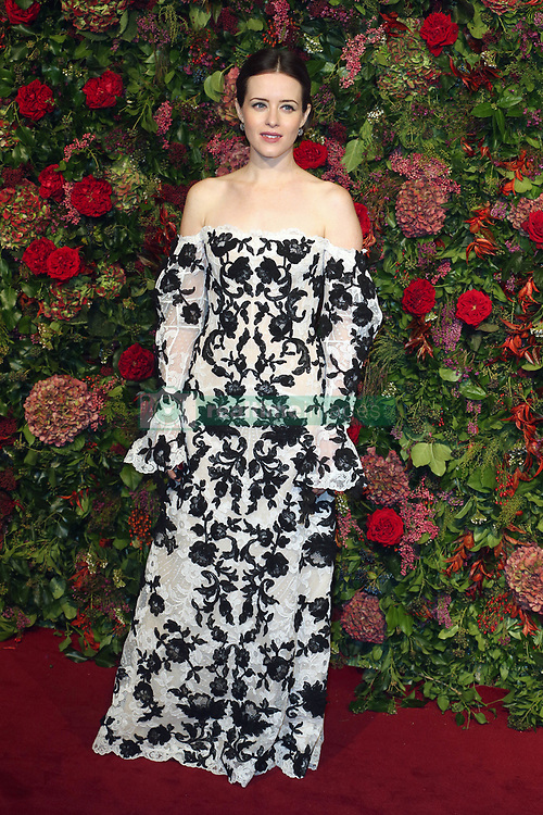 Evening Standard Theatre Awards 2018 at the Theatre Royal in London, UK. 18 Nov 2018 Pictured: Claire Foy. Photo credit: Fred Duval/MEGA TheMegaAgency.com +1 888 505 6342