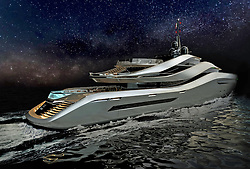 """June 3, 2017 - inconnu - The studio responsible for creating more than 100 designs for car maker Ferrari has revealed its first super-yacht.The Aurea by Italian studio Pininfarina, will have a huge beach club area and two swimming pools – one with transparent walls.And the engine is fixed in the centre of the vessel freeing up rear access to the water and creating more deck space.Pininfarina has joined forces with the Rossinavi boatyard for the 70 metre-long Aurea which is powered by a diesel electric hybrid engine. It will focus on the lifestyle of the owner and guests with a record size beach club for a ship of its size. Aurea's stern include two swimming pools, three large outdoor decks and water-level access on both sides of the hull.The design is available now for any prospective clients. The curvature of the design theme was created to offer what Pininfarina describes as """" new and unexpected opportunities to employ and enjoy the spaces and maximizing the thrill of sailing and life on board. """"At the level of the owner's deck, for example, terraces protected by windows open at the center of the ship giving a direct view to the bow.The boat's shape is harmonious and dynamic at the same time thanks to elliptical bands that characterise the superstructures linking the decks.The upper band, for example, frames the bridge and then goes downstairs, harmoniously joining the owner's deck, creating a lavish scenic effect that integrates the outer connecting staircases to the upper deck.The main part of the main deck hosts guest cabins. Here is a longitudinal balcony covered with a folding bulwark offers guests an outdoor private space during cruising and when moored in harbor. The hull's shape is also suitably shaped by integrating the longitudinal balcony with large panoramic windows on the world.The hull has a chamfered shape running from the bow to the stern.It frames a staircase with a detail inspired by the shapes of nature and at th"""