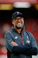 Football - 2019 / 2020 Premier League - Liverpool vs. Norwich City<br /> <br /> Jurgen Klopp manager of Liverpool at Anfield.<br /> <br /> COLORSPORT/LYNNE CAMERON