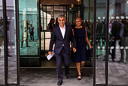 © Licensed to London News Pictures. 27/09/2016. Liverpool, UK. Mayor of London SADIQ KHAN arrives with his wife SAADIYA KHAN, for the third day of the Labour Party Annual Conference, held at the ACC in Liverpool, merseyside, UK. Photo credit: Ben Cawthra/LNP