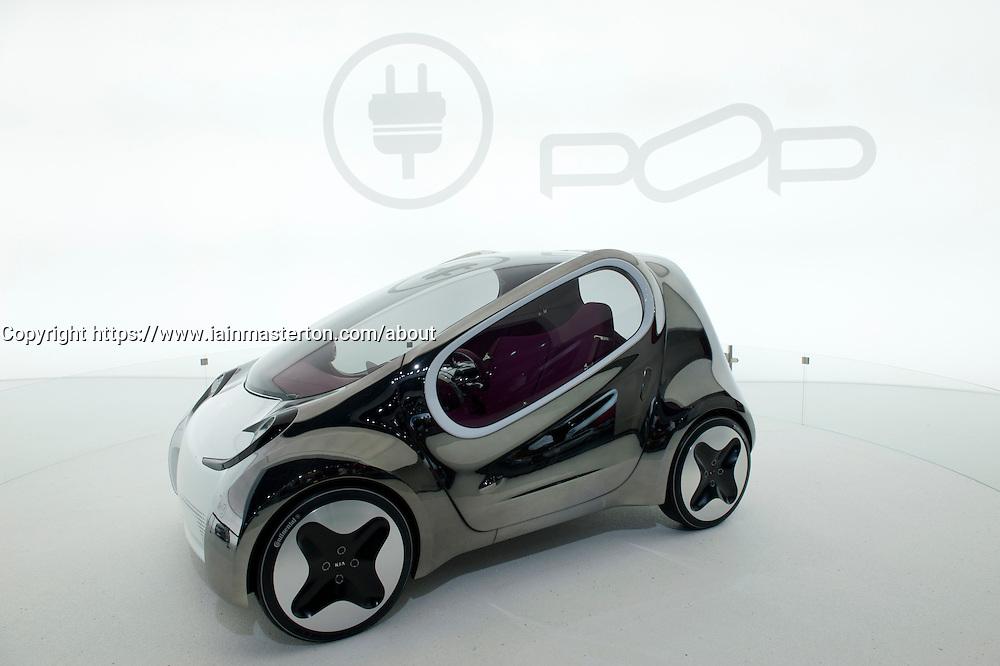 Prototype Kia Pop electric car on display at Paris Motor Show 2010