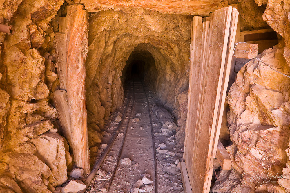 The entrance to the Eureka Mine, Death Valley National Park. California