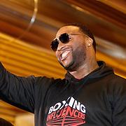 NLD/Almere/20190117 - Stare down van Boxing Influencers, rapper Lexxxus echte naam Lionel Dors