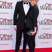 NLD/Amsterdam//20140401 - Filmpremiere The Other Woman, Tim Douwsma en partner Marit Nicolai
