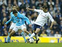Photo. Aidan Ellis<br />Tottenham Hotspur v Sunderland . Barclaycard Premiership. 08/02/2003<br />Spurs Goran Bunjevcevic battles with Sunderland's Julio Arca