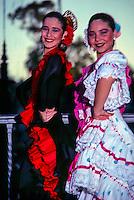 Flamenco dancers, Park of Maria Luisa, Sevilla (Seville), Spain