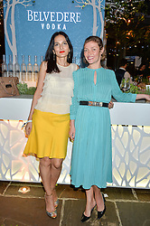 Left to right, YASMIN MILLS and CAMILLA RUTHERFORD at the Belvedere Balance Bar Launch Party at The Hoxton Hotel, 81 Great Eastern Street, London on 10th May 2016.