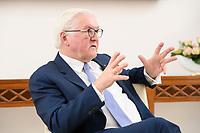 02 FEB 2021, BERLIN/GERMANY:<br /> Frank-Walter Steinmeier, Bundespraesident, waehrend einem Interview, Robert-Blum-Saal, Schloss Bellevue<br /> IMAGE: 20210202-01-044<br /> KEYWORDS: BUndespräsident