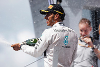 HAMILTON Lewis (Gbr) Mercedes Gp Mgp W05 Portrait podium ambiance  during the 2014 Formula One World Championship, Grand Prix of Great Britain from july 3 to 6th 2014, in Silverstone, United Kingdom. Photo Francois Flamand / DPPI