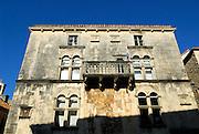 The 16th Century Renaissance Gabrielis Palace, now the Korcula Town Museum. Korcula old town, island of Korcula, Croatia.