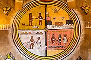 Navajo murals at Desert View Watchtower, Grand Canyon National Park, Arizona USA