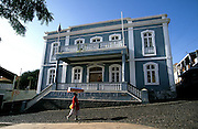 """Sao Filipe Town Hall. The capital of Fogo island is one of the best examples of portuguese colonial architecture, maily its """"sobrado"""" houses. The masters used to live on the top flor of these houses while the servants on the ground flor."""
