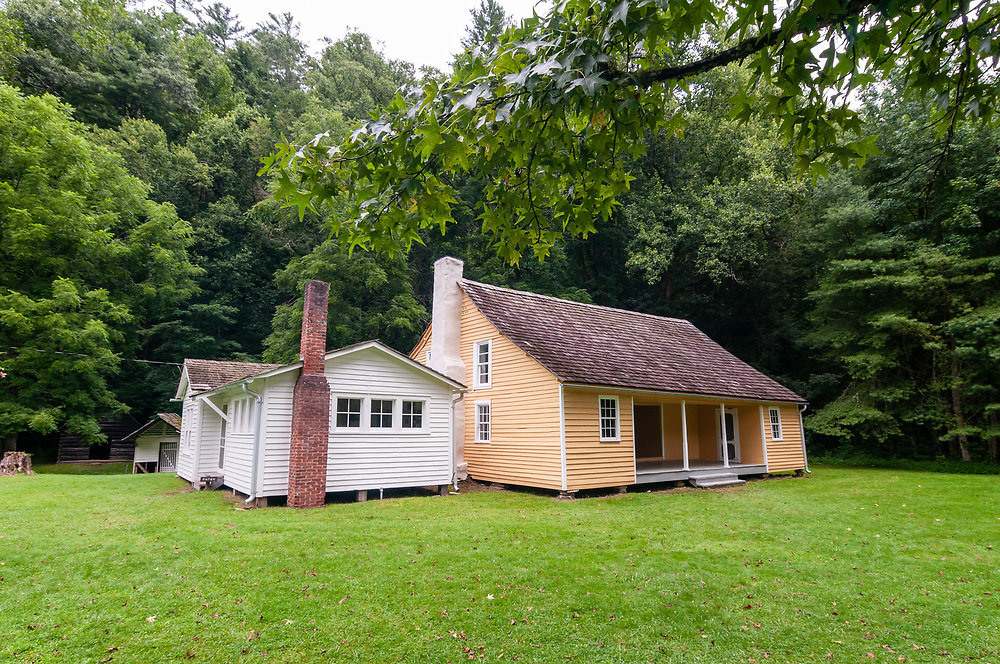 The Jarvis Palmer House in Cataloochee Valley in Great Smoky Mountains National Park in Waynesville, North Carolina on Friday, August 14, 2020. Copyright 2020 Jason Barnette