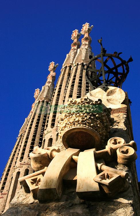 July 21, 2019 - Sagrada Familia, Barcelona, Spain; Cathedral By Antoni Gaudi (Credit Image: © Peter Zoeller/Design Pics via ZUMA Wire)