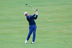 September 10, 2018 - Newtown Square, Pennsylvania, United States - Scott Piercy hits a fairway shot on the 18th hole during the final round of the 2018 BMW Championship. (Credit Image: © Debby Wong/ZUMA Wire)