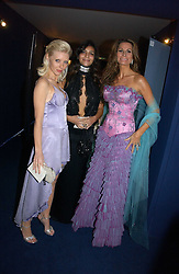 Left to right, Model CHARLOTTE DUTTON, MISS SOPHIE KRISTENSEN and her mother designer ISABELL KRISTENSEN at the British Red Cross London Ball held at The Room by The River, 99 Upper Ground, London SE1 on 16th November 2006.<br />