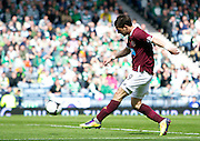 William Hill Scottish FA Cup Semi Final CELTIC FC v HEART OF MIDLOTHIAN FC Season 2011-12.15-04-12...HEARTS RUDI SKACEL SCORES THE OPENER  during the William Hill Scottish FA Cup Semi Final tie between CELTIC FC and HEART OF MIDLOTHIAN FC with the Winner facing   in this years Scottish Cup Final in May...At Hampden Park Stadium , Glasgow..Sunday 15th April 2012.Picture Mark Davison/ Prolens Photo Agency / PLPA