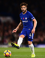 Cesc Fabregas of Chelsea in action  .Premier league match, Chelsea v Manchester United at Stamford Bridge in London on Sunday 5th November 2017.<br /> pic by Andrew Orchard sports photography.