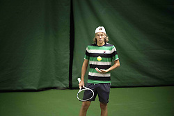 October 11, 2018 - Stockholm, Sweden - Förkval till Stockholm Open 2018, Salkhallen, Alvik. Leo Borg, tennisspelare Sverige (Credit Image: © Ivarsson Jerker/Aftonbladet/IBL via ZUMA Wire)