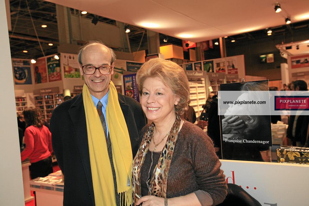 Françoise Chandernagor et son mari - - Salon du livre 2007 à Paris - Le 23/03/2007 - JSB / PixPlanete