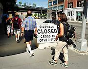 Sidewalk Closed, New York City, Illegal Walkers