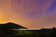 Salisbury Mills, New York -  Schunnemunk Mountain and Moodna Viaduct on the night of Sept. 24, 2014.