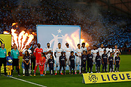 OM team before the French Championship Ligue 1 football match between Olympique de Marseille and Paris Saint-Germain on October 22, 2017 at Orange Velodrome stadium in Marseille, France - Photo Philippe Laurenson / ProSportsImages / DPPI