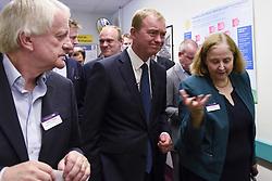June 1, 2017 - London, UK - London, UK.  Liberal Democrat Leader Tim Farron with senior hospital staff during a visit to Kingston Hospital. (Credit Image: © Stephen Chung/London News Pictures via ZUMA Wire)