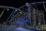 A view of the bridge leading to the Marina Bay Sands hotel and casino in Singapore.    September 14th, 2011.